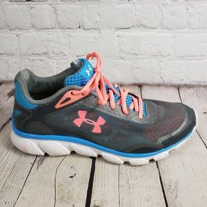 Under Armour Gray Gym Sneakers Women's 9.5 Shoes